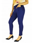 Jegging -  Blue Dobby Dotted Jegging for women 7008