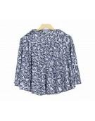 New Beautiful Teffeta silk Black Print Mini Skirt for women