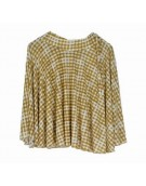 New Beautiful Teffeta silk Yellow color Mini Skirt for women