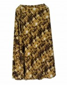 New Beautiful Teffeta silk Brown color Long Skirt for women
