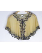 New Zinniabloom Designer Golden Color Net Fabric Free Size Poncho