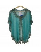 New Beautiful Green Poncho in Net Material for women