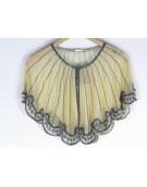 New Zinniabloom Stylish Golden Color Net Fabric Free Size Poncho