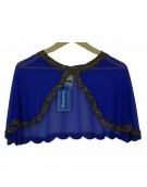 New Beautiful Blue Poncho in Georgette Material for women