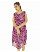 Dress -  Western Stone wine color Georgette fabric Dress