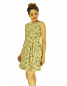 Dress - New Zinnia Bloom Designer Western Mentos Chiku color Heavy American Crepe fabric Dress