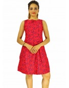 Dress - New Zinnia Bloom Designer Western Mentos Gajri color Heavy American Crepe fabric Dress