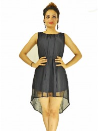 Dress -  Designer Western  Sydney Black color  Georgette fabric Dress