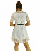 Dress -  Designer Western Elite  White color Knitted Polyester fabric Dress