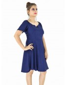 Dress -  Designer Western Blue color Knitted Polyester fabric Dress