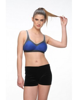 PUSH UP DEMI CUP SPORT BRA - BLUE