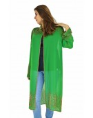 Poncho -  Stylish Green Color Georgette Fabric Free Size Poncho