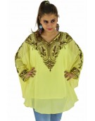 Poncho -  Stylish Yellow Color Georgette Fabric Free Size Poncho