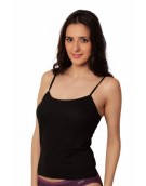 Black Deep  Back Camisole With Thin Strap