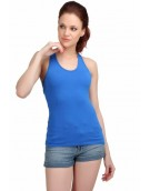 Blue Racer Back Camisole