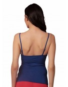 Blue Multiway Strap With Free Transparent Strap Camisole