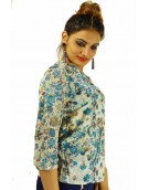 Top -  Designer Blue LQ Flower Top For Women
