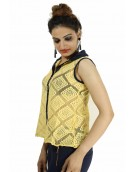 Top -  Designer Lace Yellow Top For Women
