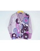 New Stylish Hot Woolen Purple Cardigan For Women - L Size