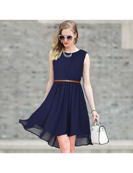 New Zinniabloom Designer Western  Sydney Blue color  Georgette fabric Dress