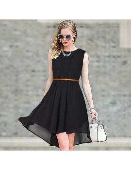 New Zinniabloom Designer Western  Sydney Black color  Georgette fabric Dress