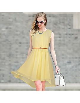 New Zinniabloom Designer Western  Sydney Cream color  Georgette fabric Dress