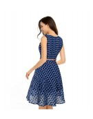 Dress -  Western Strawberry Blue color Georgette fabric Dress