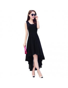 New Zinniabloom Designer Western Bueger Black  color Premium Georgette fabric Dress