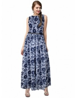 Gown for Women in colour Cooper Blue