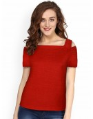 Top for Women in colour Red