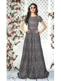 Gown -  Designer Western Black color Heavy American Crepe fabric Gown