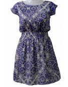 Women's Dress - Frock - Purple Floral Print