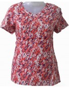 Women's top - Pink Blue Floral Print