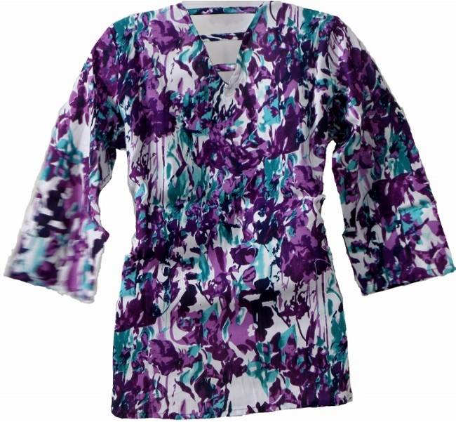 Women's Top - Purple Print