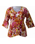 Women's Top - Pink n Brown Print
