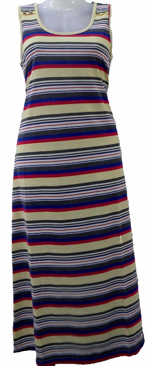 Women's Maxi Dress - Multi colour stripe