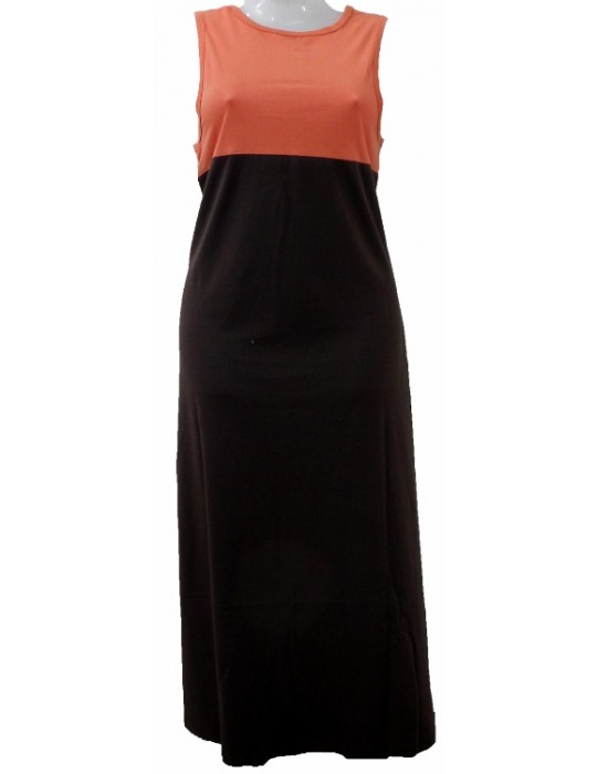 Women's Maxi Dress - Orange Black