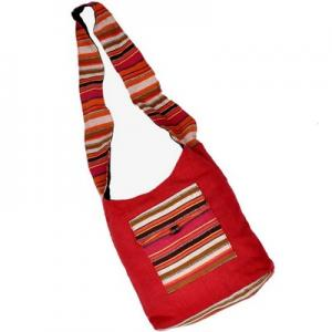 Exclusive Design Handmade Jute Maroon Shoulder Bag 144