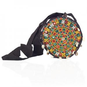 Ethnic Hand Embroidered Beaded Round Shoulder Bag 149