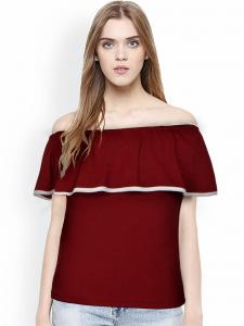 Top for Women in colour Maroon
