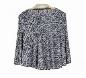 New Beautiful Teffeta silk White Printed Mini Skirt for women