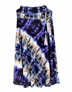 New Beautiful Teffeta silk Purple color Long Skirt for women
