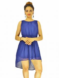 Dress -  Designer Western  Sydney Blue color  Georgette fabric Dress