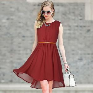 Dress -  Designer Western  Sydney Maroon color  Georgette fabric Dress