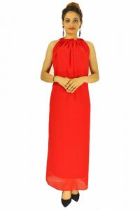 Gown -  Designer Western Dyna Red color Premium Georgette fabric Gown
