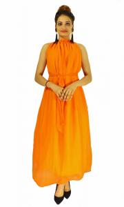 Gown -  Designer Western Dyna Orange color Premium Georgette fabric Gown