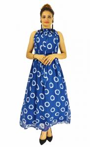 Gown -  Designer Western Dyna Ring Blue color Premium Georgette fabric Gown