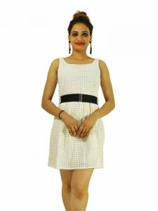 Dress -  Designer Schifly White Top For Women