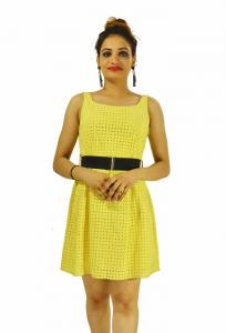 Dress -  Designer Schifly Yellow Top For Women
