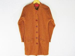 New Stylish Hot Woolen Brown Color Cardigan For Women - L Size